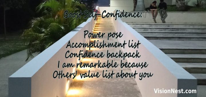 Staircase image with Six Techniques to Boost Confidence (for Self-Promotion)